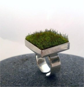 Square Moss Ring