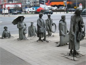 Statue Of An Anonymous Passer By In Wroclaw Poland