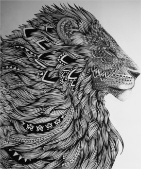 Steve Chima Art...Beautiful Lioness Drawing
