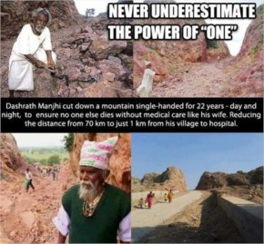 Story of an Ordinary man who craved a road through mountain for 22 years