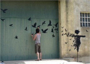 Street Art by Pejac in Salamanca Spain-2