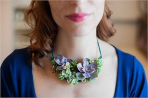 Succulent Bib Necklace