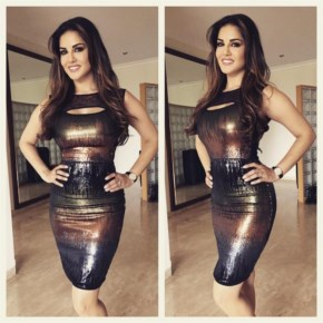 Sunny Leone | pretty dress on Great start to Kuch Kuch Locha Hai promo