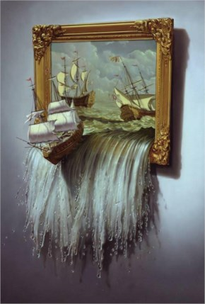 Surreal 3d Art Ship Tim O'Brien's Illustrations Painting