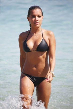 Sylvie Meis Hot In Black Bikini On The Beach In Mykonos
