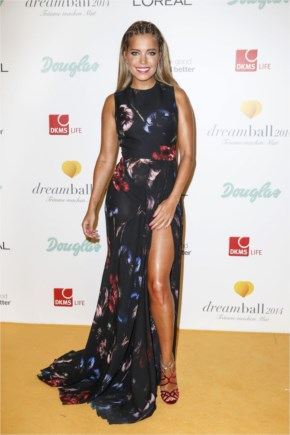 Sylvie Meis Hot in Dress at Dreamball Ritz-Carlton in Berlin
