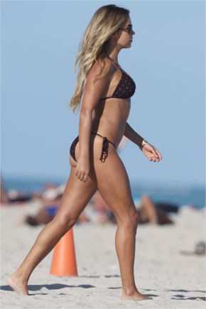 Sylvie Meis in Sylvie Meis in Bikini on Miami Beach