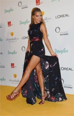 Sylvie Meis look amazing on Dreamball at the Ritz-Carlton in Berlin