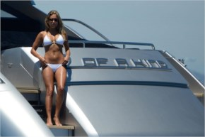 Sylvie van der Vaart Bikini Photos – on a Yacht in Formentera