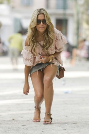 Sylvie van der vaart out and about in saint tropez