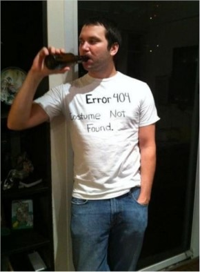 Take a Sharpie to a plain white tee and you get a 404 Error.