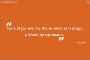 Tears Of Joy Are Like The Summer Rain - Inspirational Quotes on Life