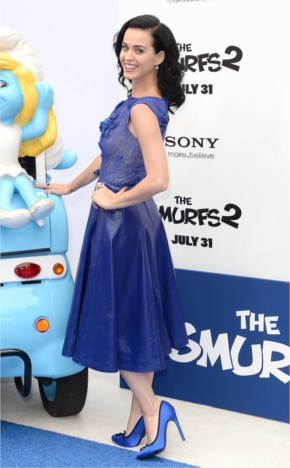 The Big Picture Gorgeous Katy Perry At The Smurfs 2 Premiere...Today's Hot Pic