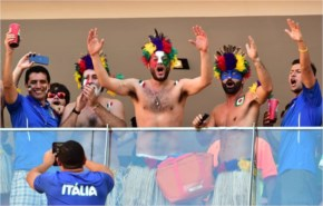 The emotions on the faces of the fans in Manaus England v Italy  2014 FIFA World Cup Brazil