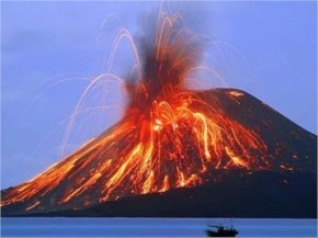 The eruption of Krakatoa in 1883 was the loudest sound in recorded history, heard 3,000 miles (4800 KM) away.