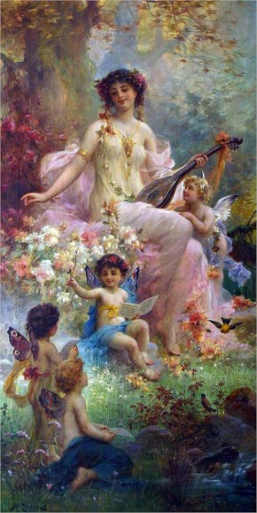 The Fairy Hans Zatzka Paintings Art