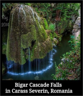 The Izvorul Bigăr, or the Bigar Waterfall in Romania, is so eye-catching that it looks almost unreal