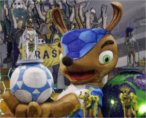 The official mascot of the FIFA 2014 World Cup fuleco the armadillo