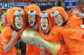 The Oranje and Dutch soccer fans always cheer before the FIFA World Cup 2014 Netherlands and Spain turn up in force for World Cups