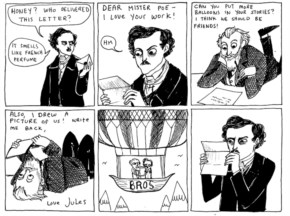 The Original Comic. Jules Verne And Edgar Allan Poe