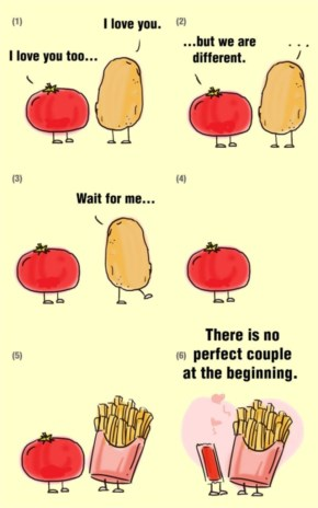 This love story of Potato and Tomato teaches us something