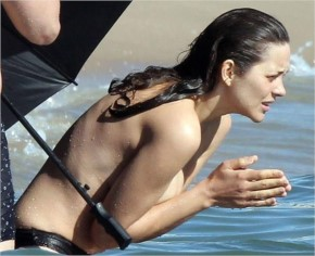 To film scenes for her new movie rust and bone