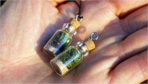 To make your own DIY terrarium necklace, check out this tutorial