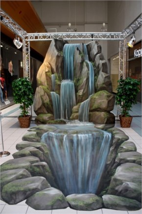 Top 10 Greatest Christabellee 3D Art Artificial Mini Waterfalls In A Restuarent  By Manfred Stader