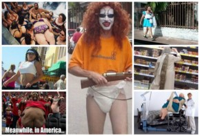 Top 18 Funny People of America with a weird Outfit