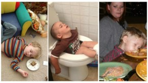 Top 20 Funny Places which proves that kids can fall asleep anywhere
