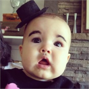 Top Most 10 Babies With Eyebrows Drawn Onto Them. This Is The Funniest Thing I've Ever Seen