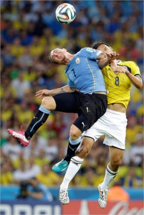 Uruguay eventually bowed out of the tournament as they failed to score after conceding two goals