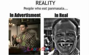 Very Funny Picture - Reality of Pan Masala Advertisenment