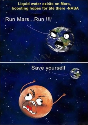 Water Exit on Mars