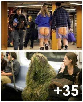 Weird and Funny people seen on the Subway (35+ Photos)