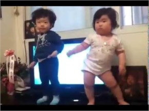 What a dance by a chubby Korean baby