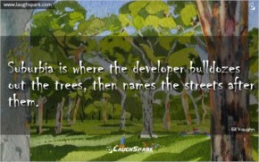 Where The Developer Bulldozes Out The Trees   World Environment Day