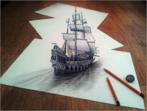 While Sailing Through – 3D Art Imagination By JJK Airbrush