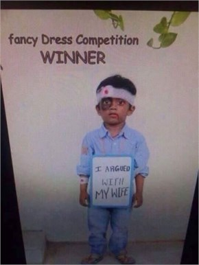 Winner of Fancy Dress Competiton