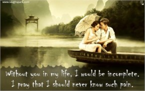 Without You in My Life - Love Quotes For Her From The Heart