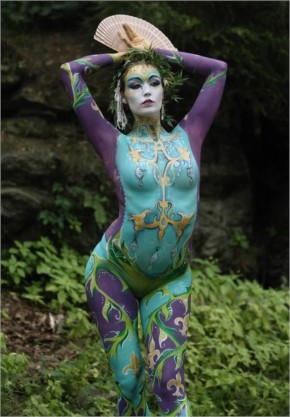 Woman body art painting