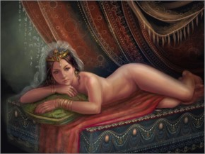 Woman Fantasy Odalisque by alla holod