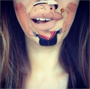 Woman Makes Cartoons Talk With Art On Mouth
