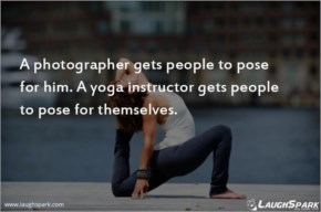 Yoga Instructor Gets People to Pose For Themselves - Yoga Day Quotes