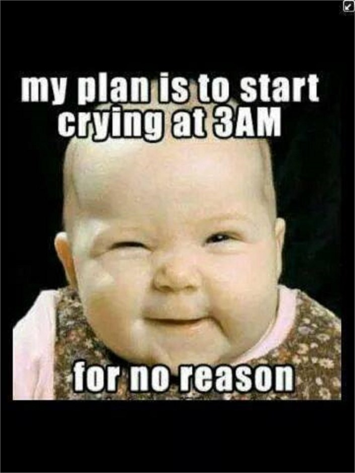 Small Baby Images With Quotes: Cute Funny Baby Saying....My Plan Is To Start Crying At