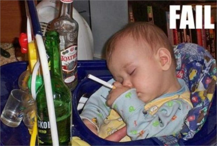 funny pictures baby drinking beer  smoking