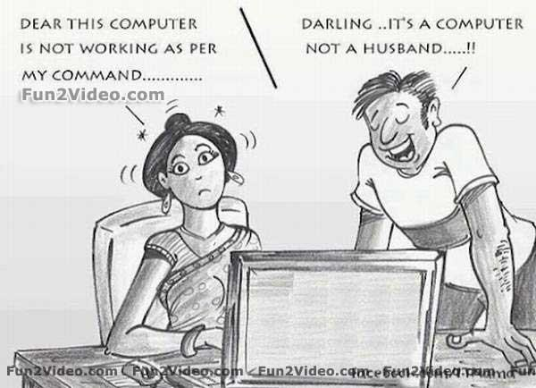 Husband and wife computer funny jokes