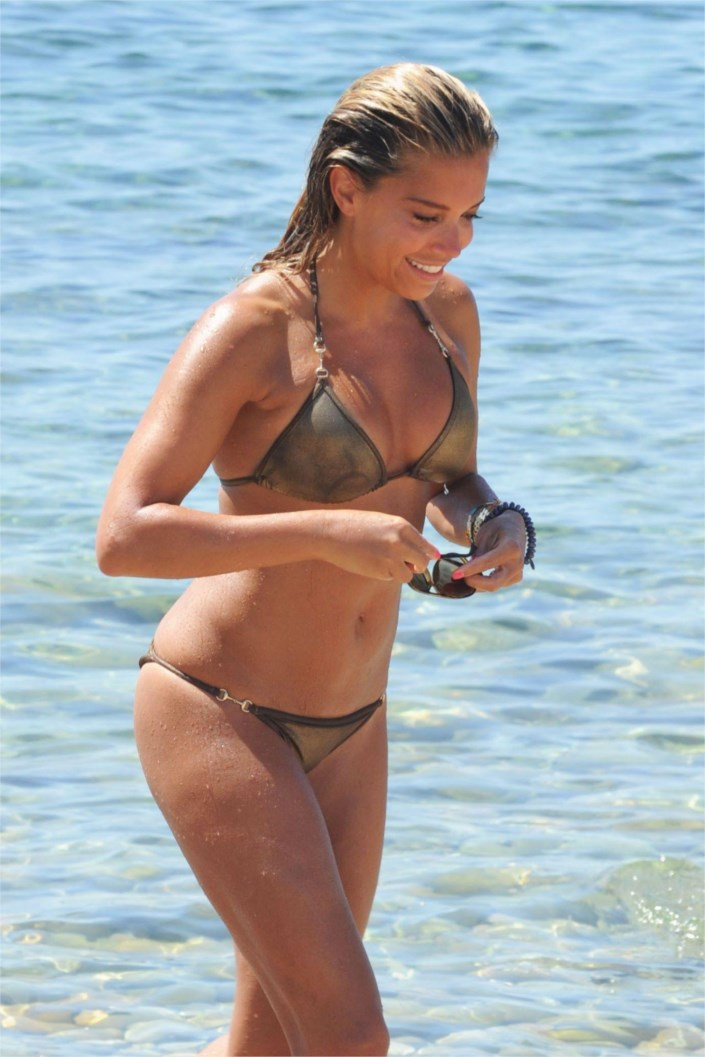 sylvie meis hot in a bikini beach in ibiza. Black Bedroom Furniture Sets. Home Design Ideas