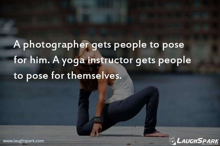 Yoga Instructor Gets People To Pose For Themselves