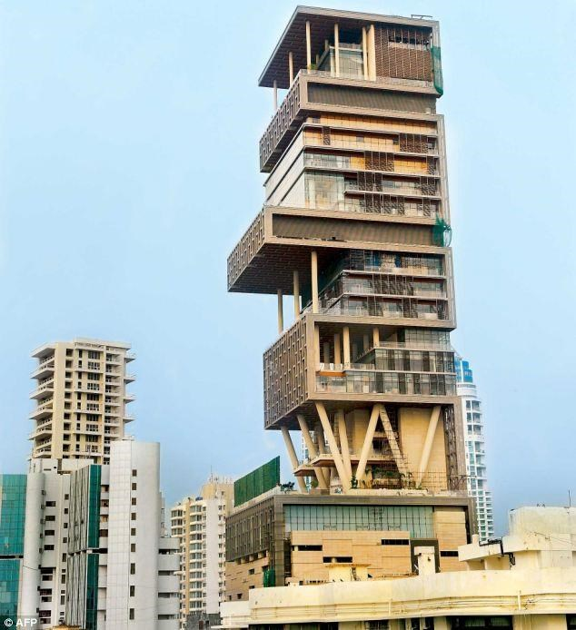 Mukesh ambani house antila for What is the cost of building a house in india